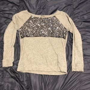 4 for $10! Sparkle accent crew neck sweater